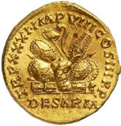 Glosario de monedas romanas. ARMAS APILADAS. Image
