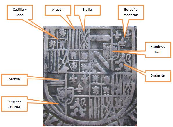 1 real 1505 Felipe I El Hermoso y Juana I de Castilla. Amberes Escudo_Felipe_I