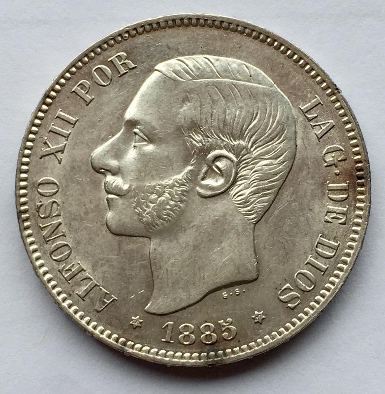 5 pesetas 1885 (*18-87). Alfonso XII IMG_8334