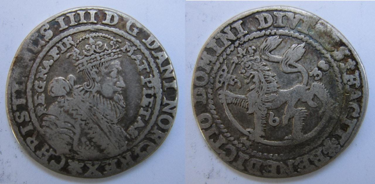 1/4 speciedaler 1638 Oslo (o Christiania). Christianus IIII 1_4_Thaler_Dinamarca_1638