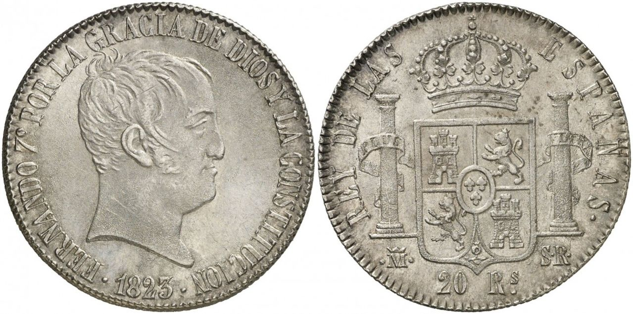 20 Reales 1823 Madrid 2426074