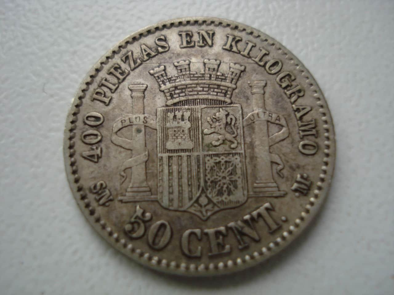 50 céntimos 1869. Gobierno Provisional. Monadas2_005