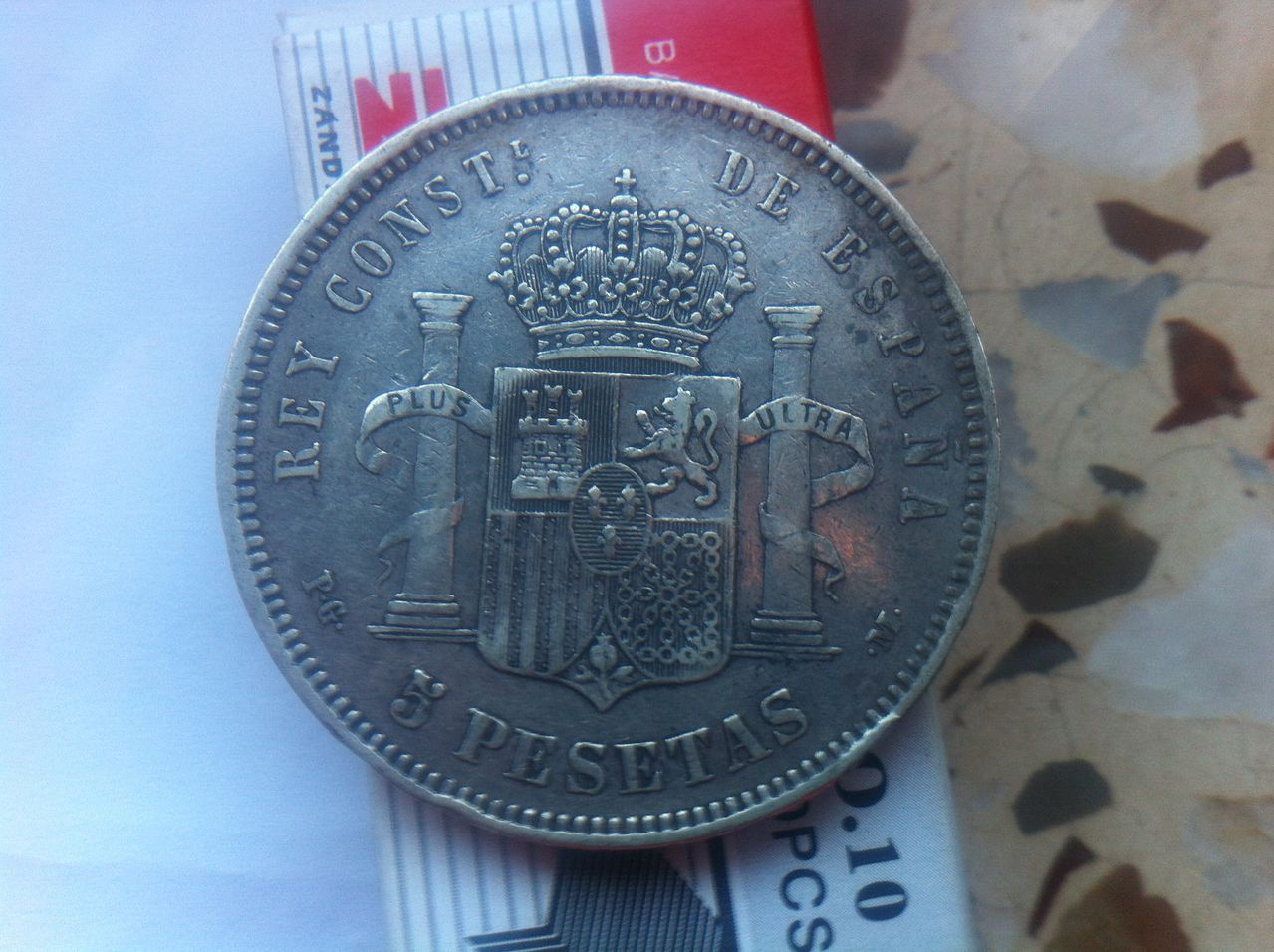 5 pesetas Alfonso XIII 1890 IMG_4007
