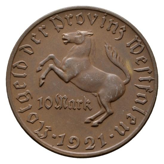 Monedas de emergencia emitidas por el banco regional de Westphalia 1921_10b
