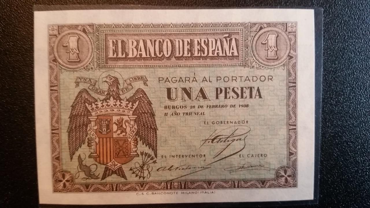 Colección de billetes españoles, sin serie o serie A de Sefcor pendientes de graduar 20161217_120603