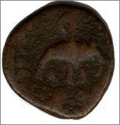 Tetradracma de cobre o Unit de Huvishka I.  Smg_298b