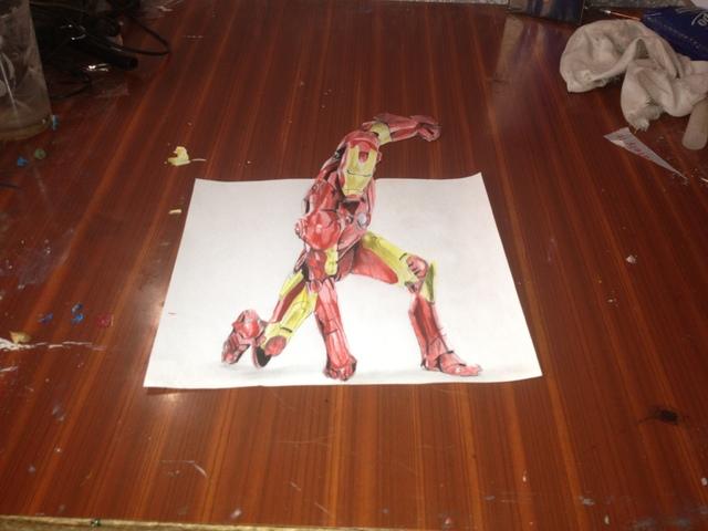 رسمتي ل iIRON MAN تلاتية الابعاد على ورقة ( صورة +الفيديو )   Img_9169