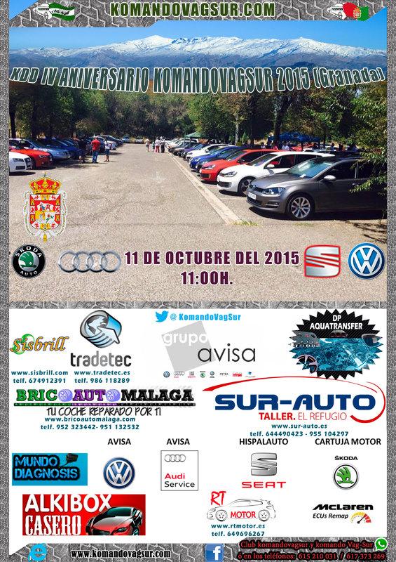 Kdd IV Aniversario komandovagsur - Granada 11 de Octubre de 2015 Cartel_KDD_IV_Aniversario_komandovagsur_2015_Gr