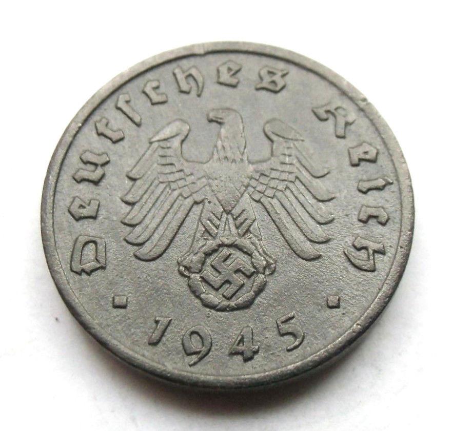1 Reichspfennig 1945 A. La última del III Reich. 1945a
