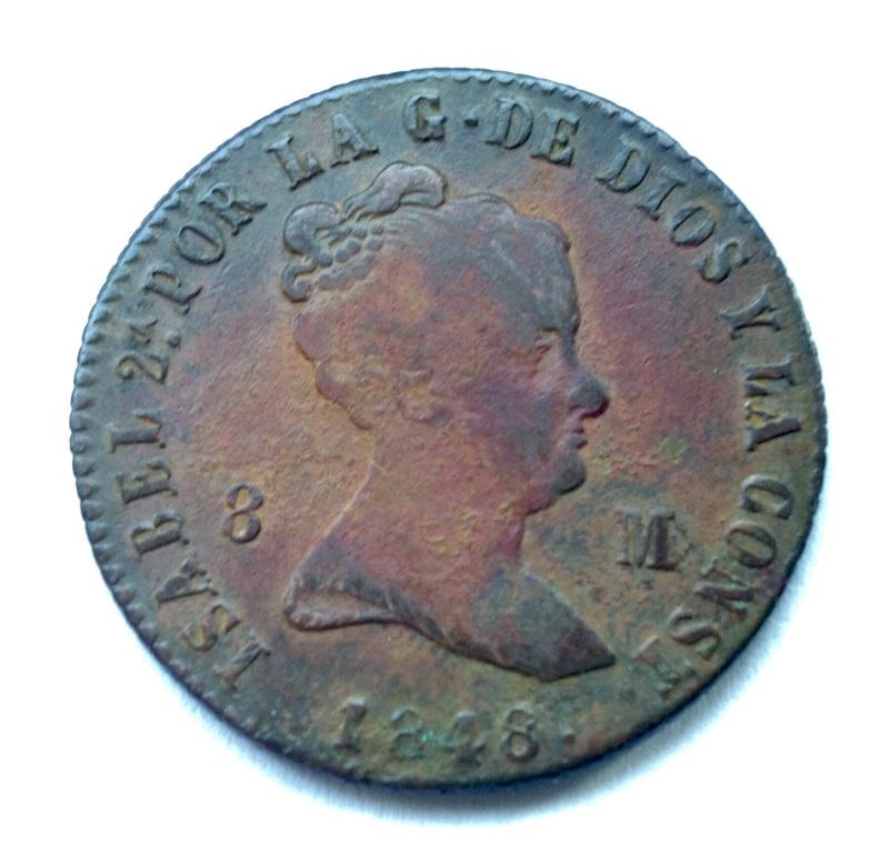 8 maravedies Isabel II 1848 (Jubia) - Página 2 Image