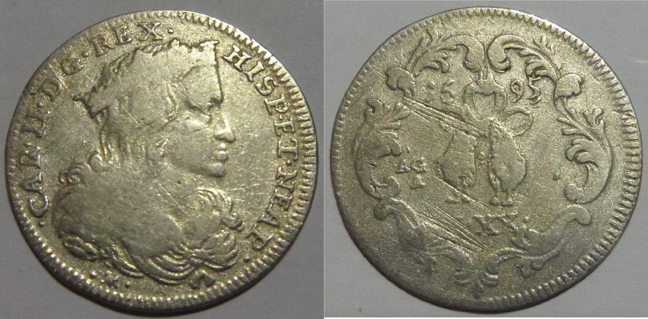 1 Tari (XX Grana) 1695. Carlos II. Nápoles. IMGP3142