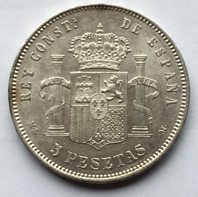 5 pesetas 1885 (*18-87). Alfonso XII IMG_8335