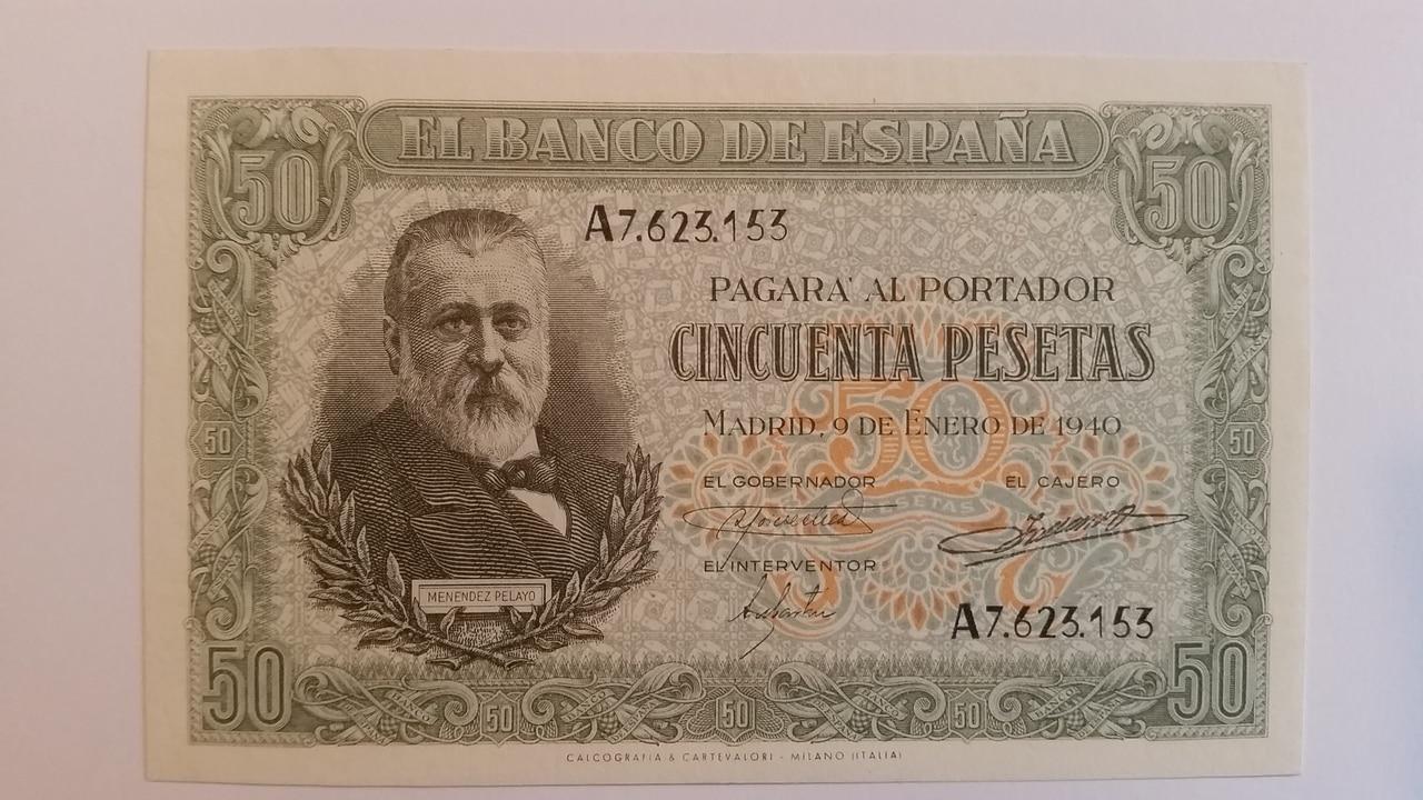 Colección de billetes españoles, sin serie o serie A de Sefcor pendientes de graduar 20161217_121910