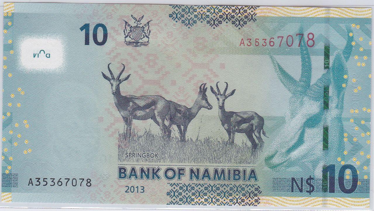 10 Dólares Namibia, 2012 Namibia_2_d_lares_2012_R