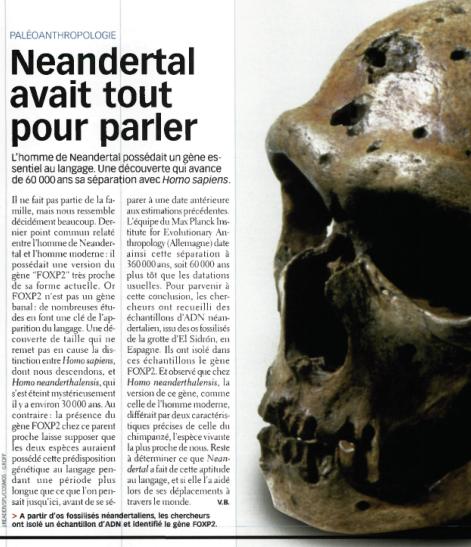 Neandertal sait parler Image