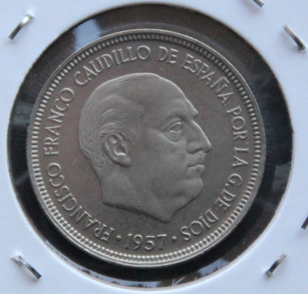 5 pesetas 1957 *75 PROOF Anverso