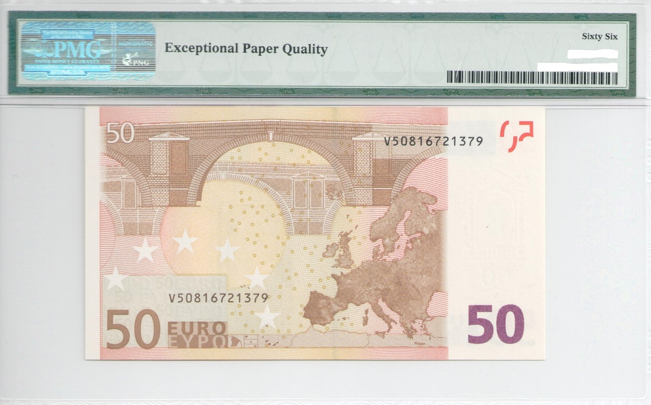 Colección de billetes españoles, sin serie o serie A de Sefcor - Página 3 50_euros_trichet_reverso