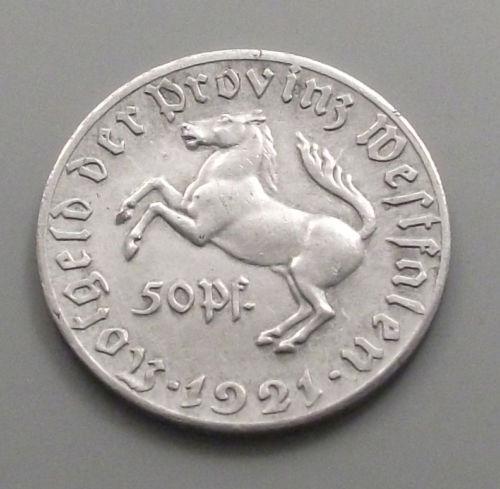 Monedas de emergencia emitidas por el banco regional de Westphalia 1921_050b