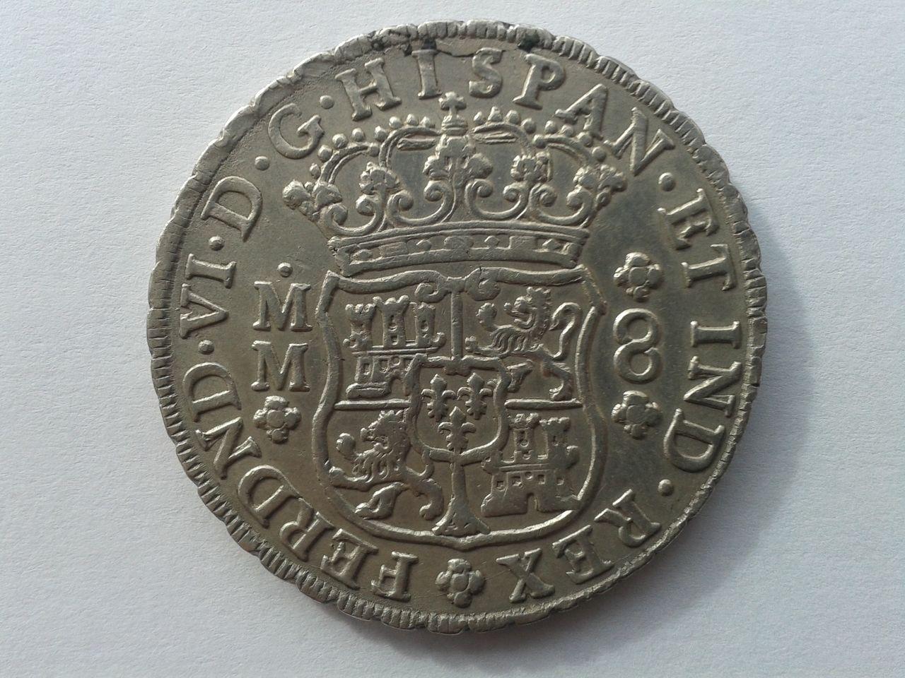 8 reales columnario 1755. Fernando VI. Méjico 20151231_142658