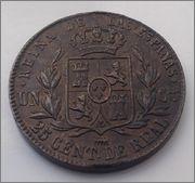 25 CENTIMOS DE REAL DE 1852. ISABEL II. DEDICADA A JAVI. Image