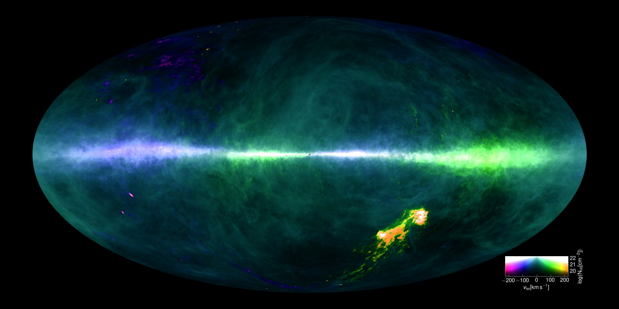 El mapa más detallado de la Vía Láctea HI4PI