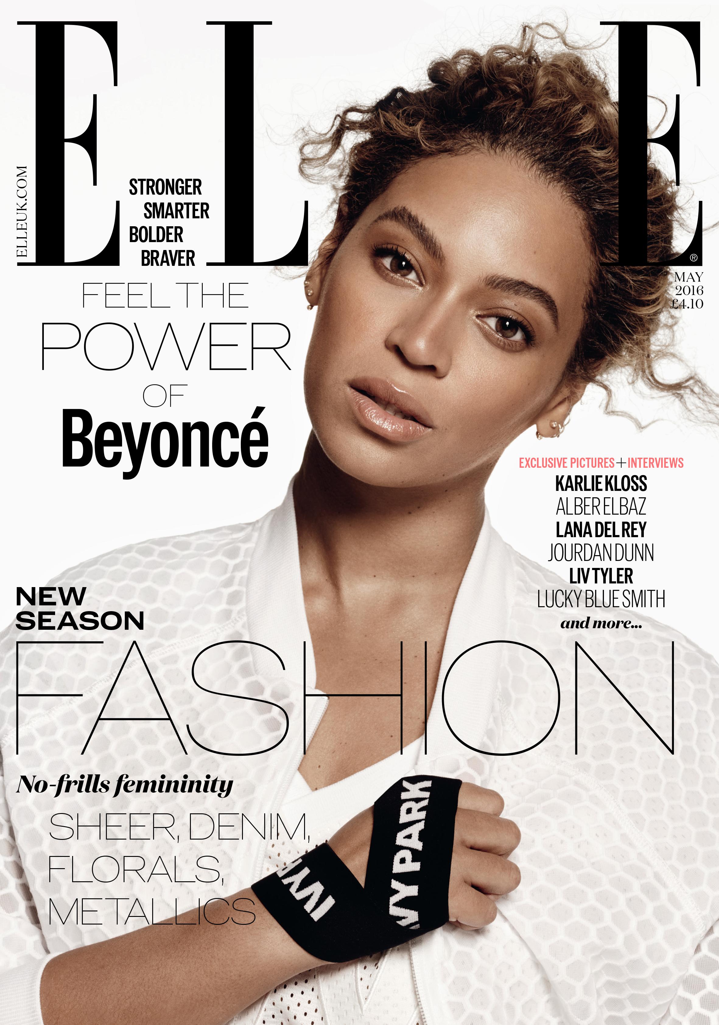 Beyoncé    ELLE_UK_May2016_Cover-EMBARGOED