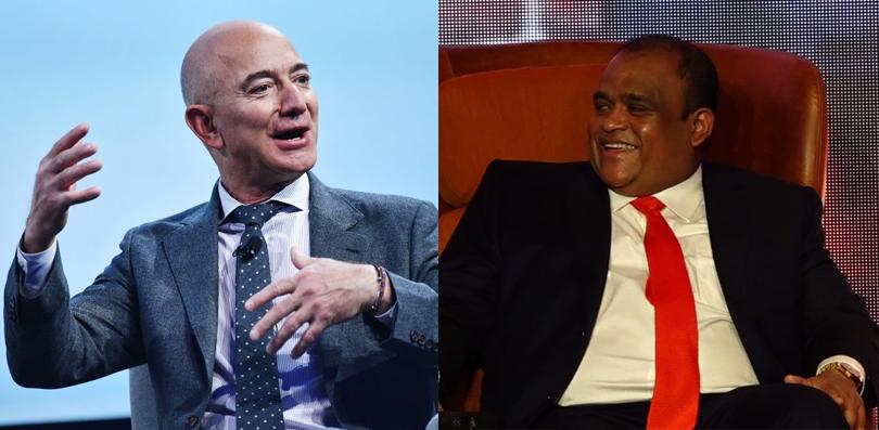කොරෝනා අභියෝග මැද ලොව ලොකුම පොහොසතාගේ ධනය තවත් වැඩිවෙද්දී ලංකාවේ ලොකුම ධනවතාගේ ධනස්කන්ධයත් කෝටි 1,500කින් ඉහළට Jeff-Bezos-Dhammika-Perera