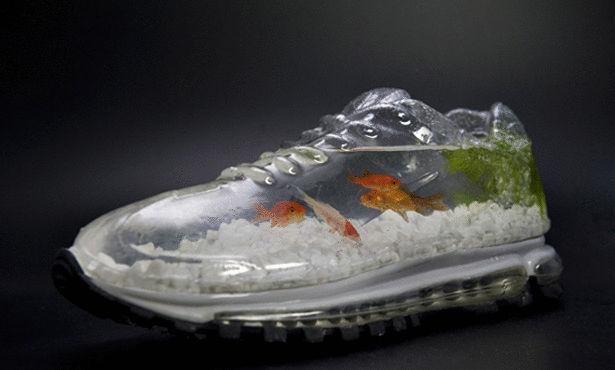 حذاء في داخله حوض سمك Large