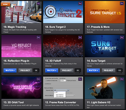 تحميل أفضل 300 اضافة لبرنامج أفتر افكت Adobe After Effects Plugin Videocopilot