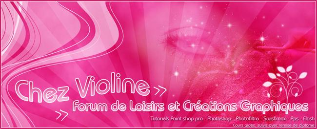 Chez Violine - Forum de Loisirs et Créations Graphiques Banpubvioline