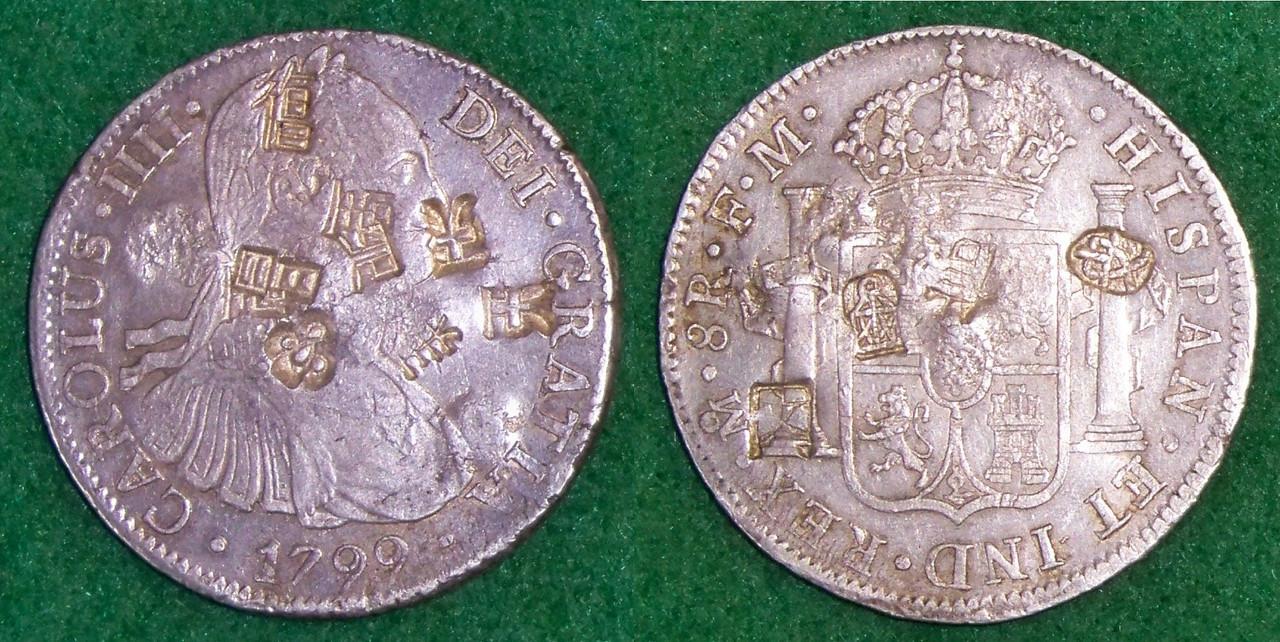 8 Reales 1799. Carlos IV. Méjico. Los Resellos Chinos del Opio. 100_2133_copia