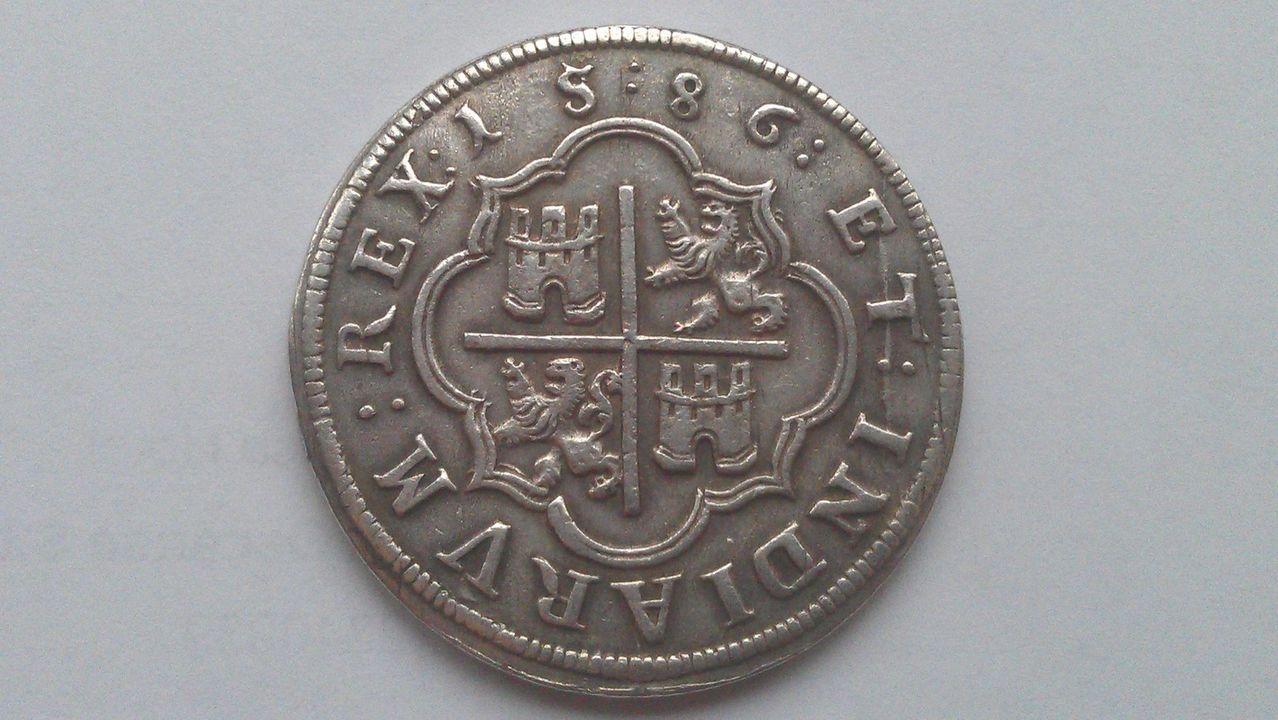 8 reales FELIPE II  Ingenio de Segovia 1586 IMAG1631