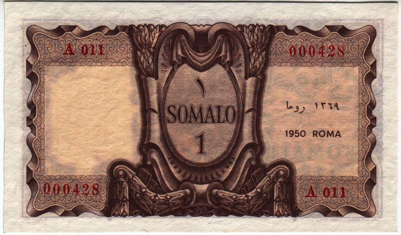 Somalia Italiana 1 Somalo 1950 ISomalia_P11ab