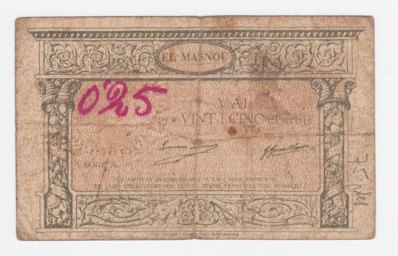 25 Céntimos El Masnou, 1937 0_25_pta_el_masnou