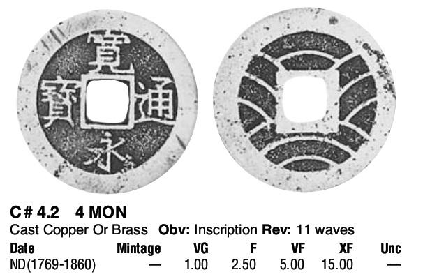 4 Mon. Japón. 1863 Moned