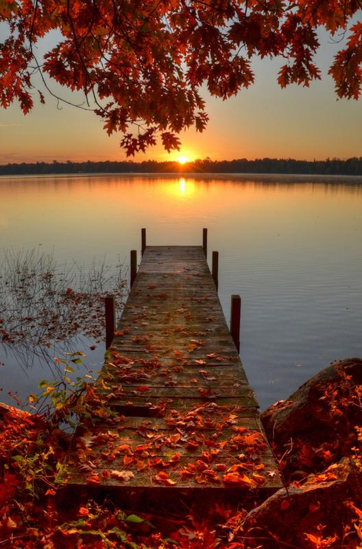 Fotografija dana - Page 3 Autumn_Leaves_Fall_Color_Sunrise_Dock_Lake_Sunse