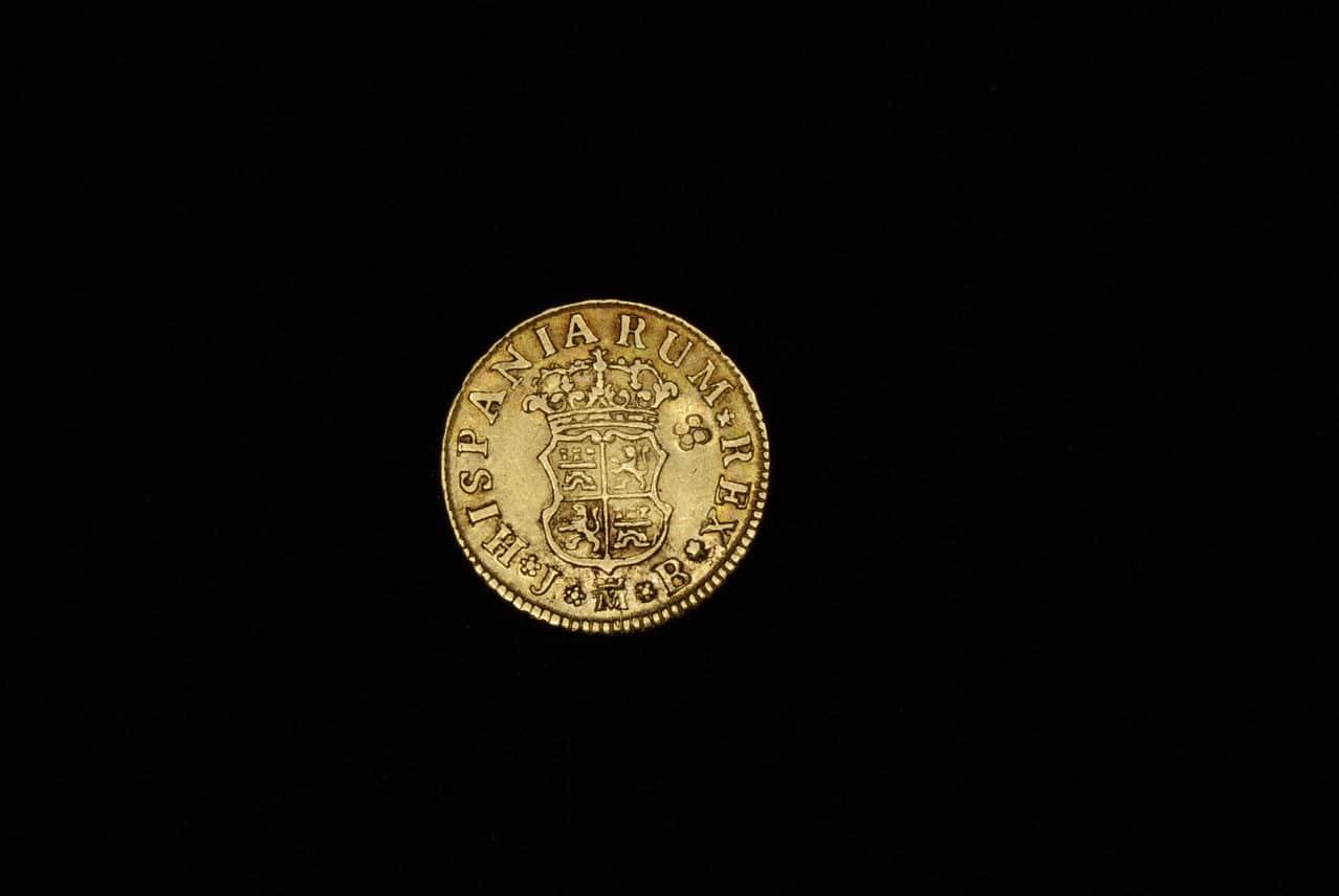 1/2 escudo 1749. Fernando VI. Madrid. con marca privada. Imagen_084