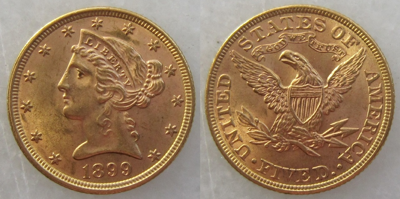 5 dólares. 1899. EEUU 5_d_lares_EEUU_1899
