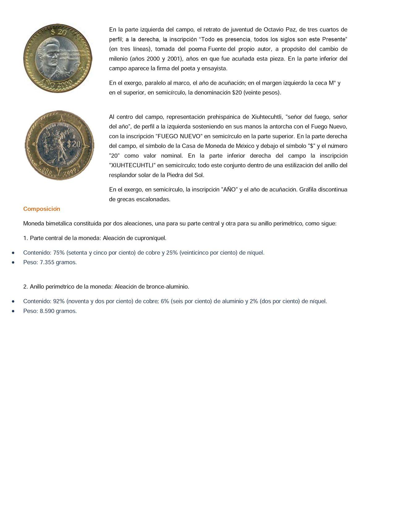 Nueva moneda de 20 pesos en circulacion  0003