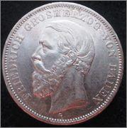 Autenticidad - 5 Mark. Alemania, Estado de Baden. 1898. Stuttgart IMG_1409