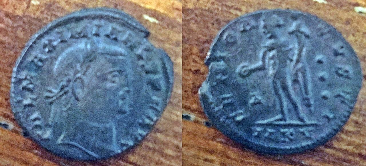 Nummus de Galerio como augusto. GENIO AVGVSTI. Cycico Galerio