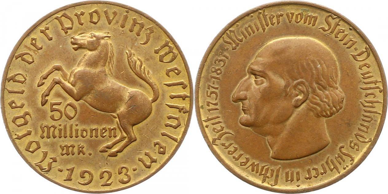Monedas de emergencia emitidas por el banco regional de Westphalia N23b