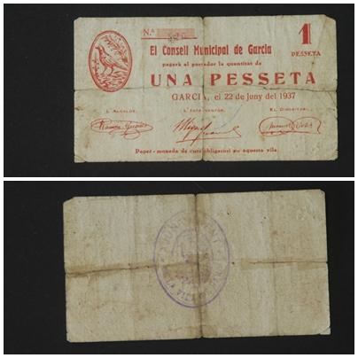 Garcia, 1 peseta, 50 céntimos y 25 céntimos (T-1087, T-1088, T-1089) T_1087