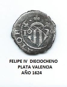 dieciocheno de Felipe IV año 1624 Image