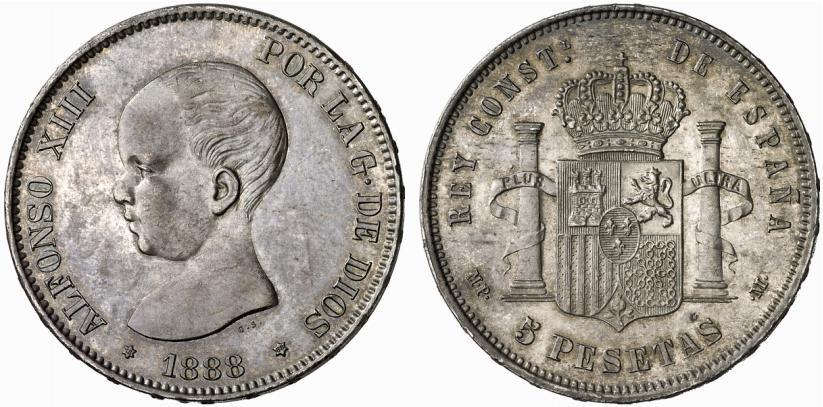 5 pesetas 1888 Alfonso XIII - Página 2 132_138
