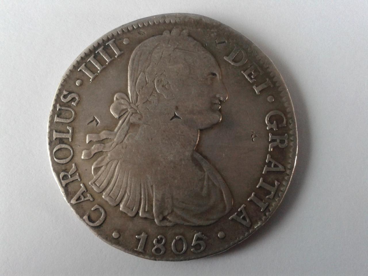 8 reales 1821 - México - Carlos IIII 20141025_154734