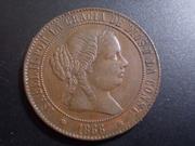 5 Céntimos de Escudo 1.866. Isabel. Barcelona. Sin OM DSCN1163