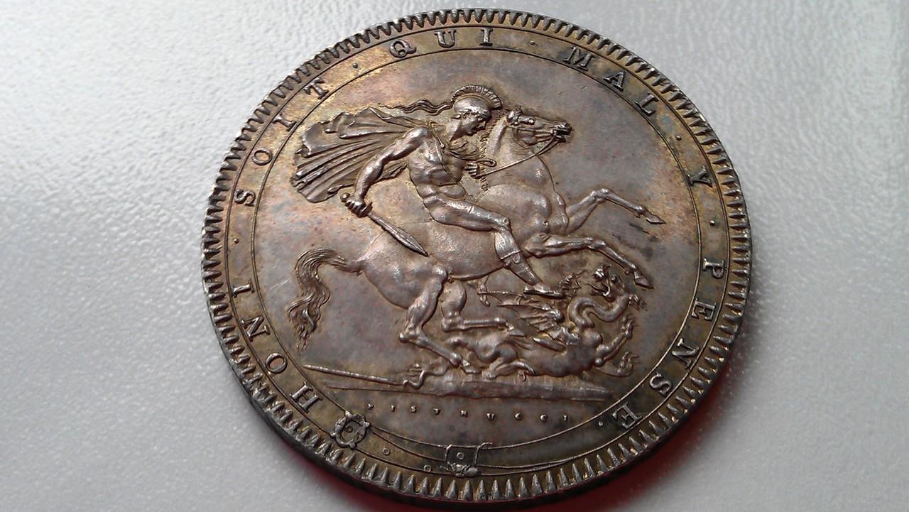 1 corona (crown) 1820  Georgius III   - Dedicada a mi amigo Emiliano IMAG1216