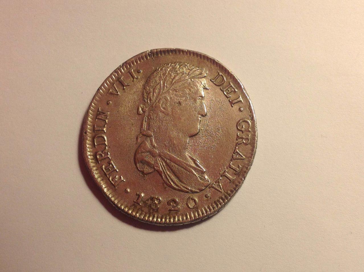 8 reales, Zacatecas, 1820 - RG - FERNANDO VII  IMG_0189