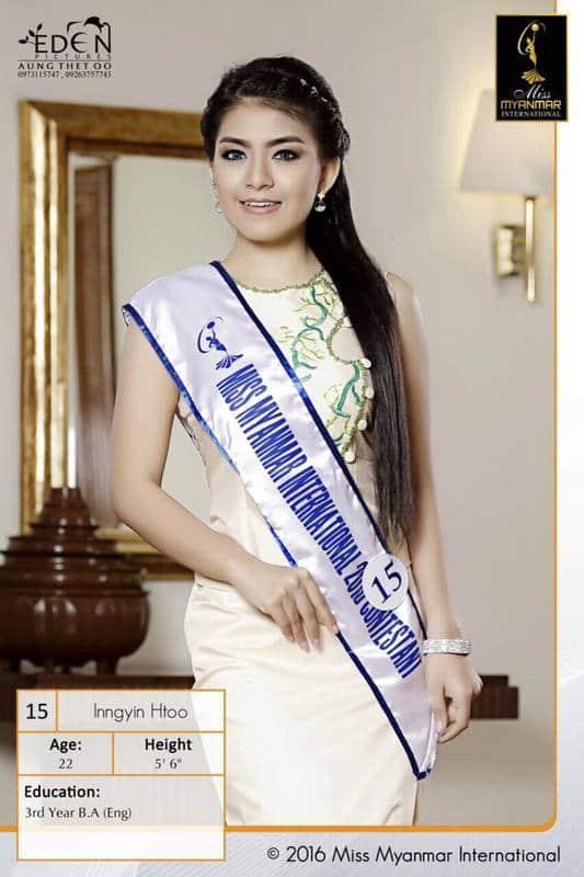 ingyin htoo gana miss myanmar international 2016. Image